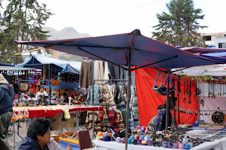 Photo: Otavalo Marketplace is packed with merchants.