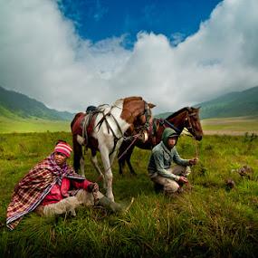 The Tengger Horsemen of Mount Bromo by Mdnoh Mnj - People Street & Candids