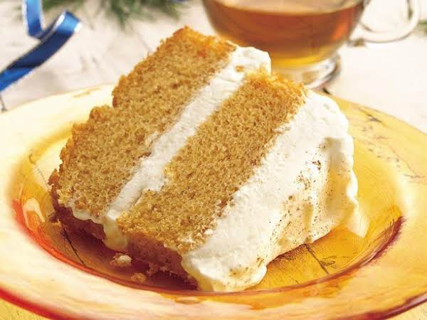 Pumpkin Angel Food Cake With Ginger-cream Filling Recipe