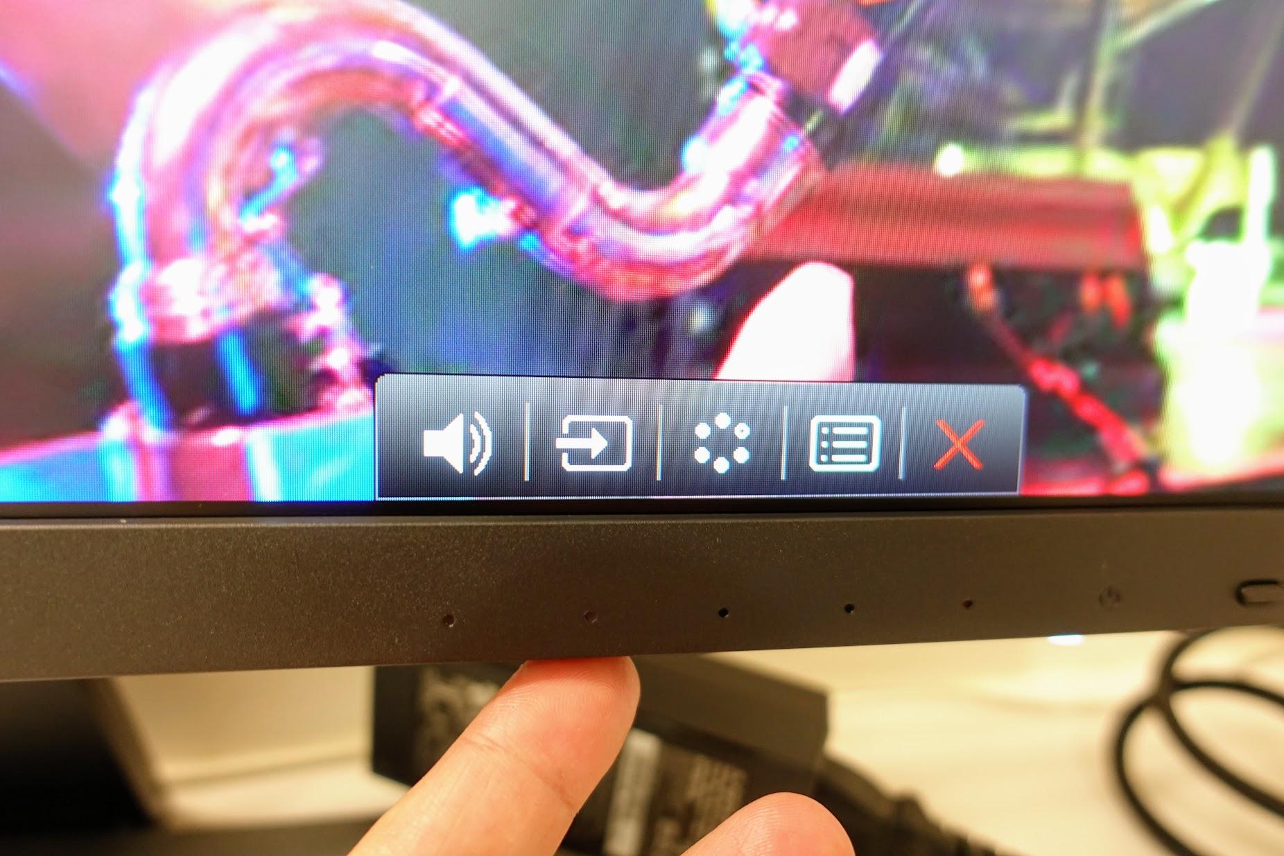 底下按鈕都有各自的功能,基本上,這次只有調整亮度,其他就預設值