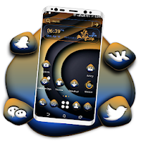 Abstract Curve Art Launcher Theme