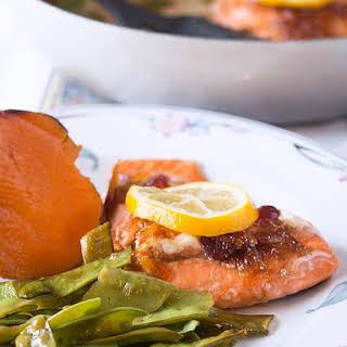 Orange Glazed Salmon.