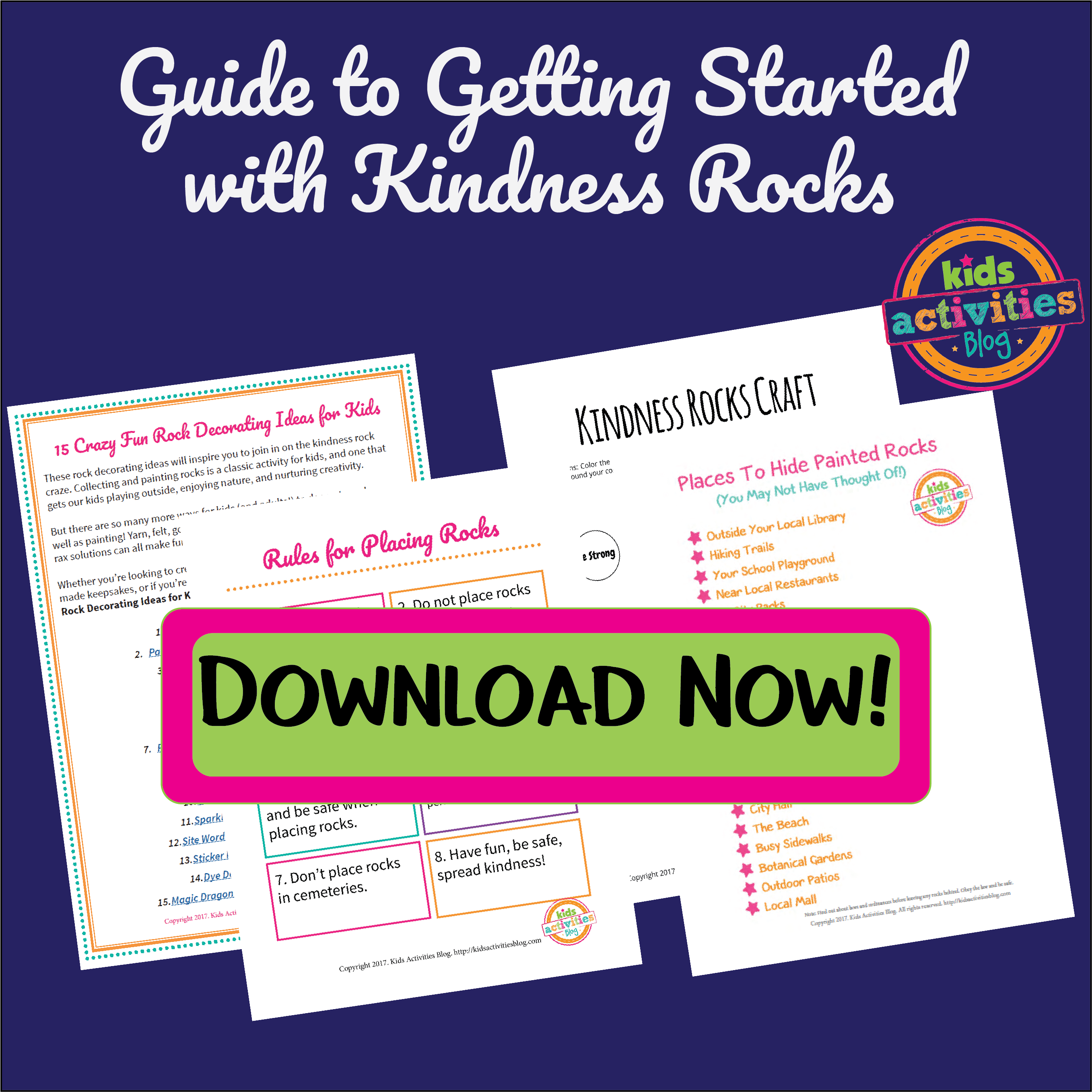 Download the Guide to Getting Started with Kindness Rocks