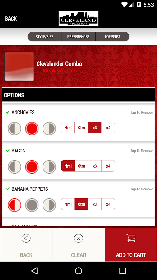 Cleveland Pizza Co.- screenshot