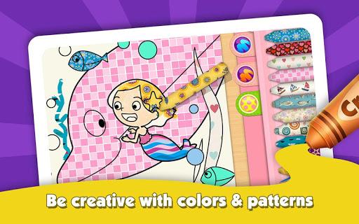 Kids Color Book: Mermaid Story