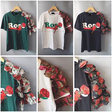 🥀單邊玫瑰layer袖top🥀