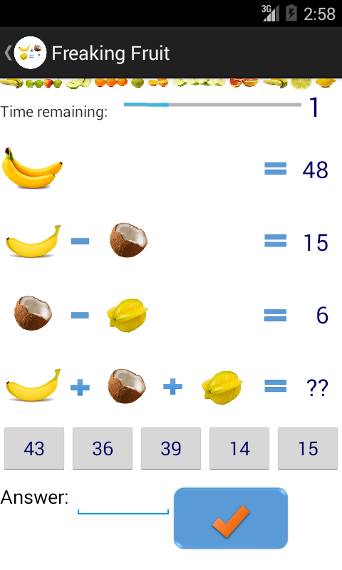 Fruit Math- screenshot