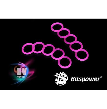 """Bitspower O-ring for 1/4""""BSP gjenger, 10 stk, UV Red"""