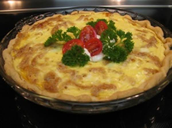 Chicken Onion Ring Quiche Recipe
