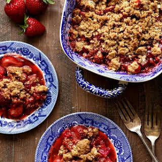 Strawberry, Raspberry and Rhubarb Crisp.
