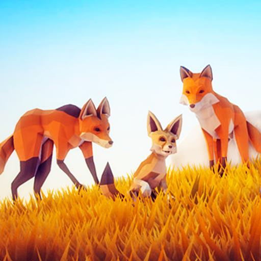 Fox Simulator Poly Art Adventure game (apk) free download for