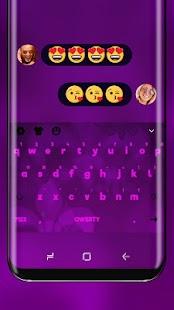 Purple Classic Keyboard Theme - náhled