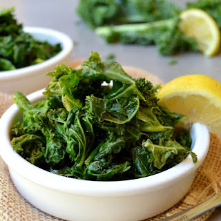 Sauteed Kale & Spinach Salad with lemon