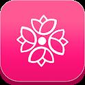 الحاسبة الورديه menstrual cycle period tracking 🌹 icon