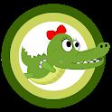 Alli Hungry - funny crocodile icon