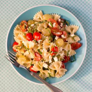 Bow Ties with Tomatoes, Feta, and Balsamic Dressing