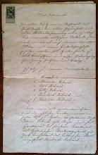 Photo: Fridricho Rericho, N.Rericho tėvo pusbrolio, surašytas testamentas. (Liepojos muziejaus archyvas).
