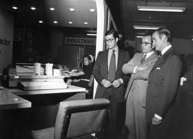 Photo: Presentación del factor S al SIMO de Madrid, 1971