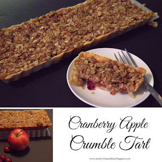Cranberry Apple Crumble Tart