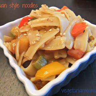 Szechuan Inpsired Noodles – #glutenfree #vegan.