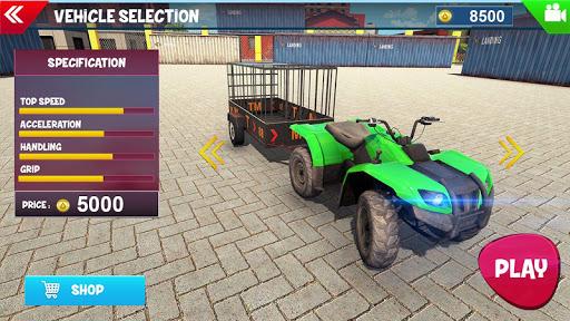 ATV Bike Dog Transporter Cart Driving: Dog Games  screenshots 5