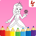 Kids coloring book: Princess icon