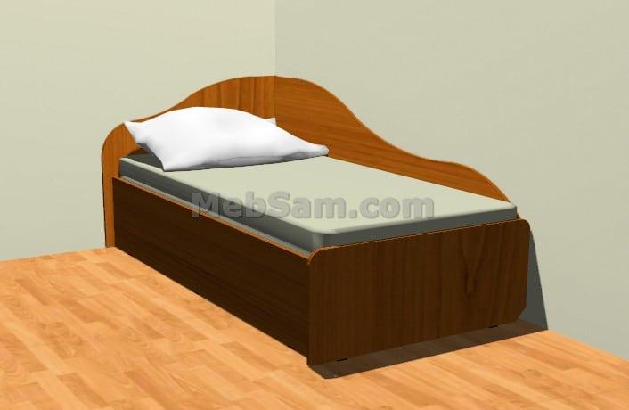 Односпальная кровать из ЛДСП
