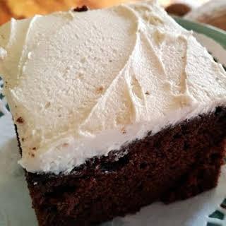 ~ Choc - Kahlua Cake W/ White Russian Frosting ~.