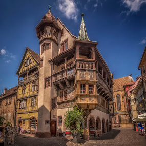 by Ole Steffensen - Buildings & Architecture Public & Historical ( colmar, maison pfister, alsace, france, bay window, balcony )