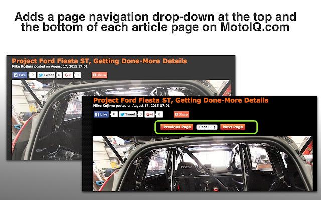 Better MotoIQ Navigation
