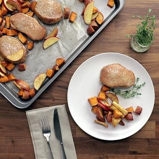 Pork Chops With Sweet Potatoes.
