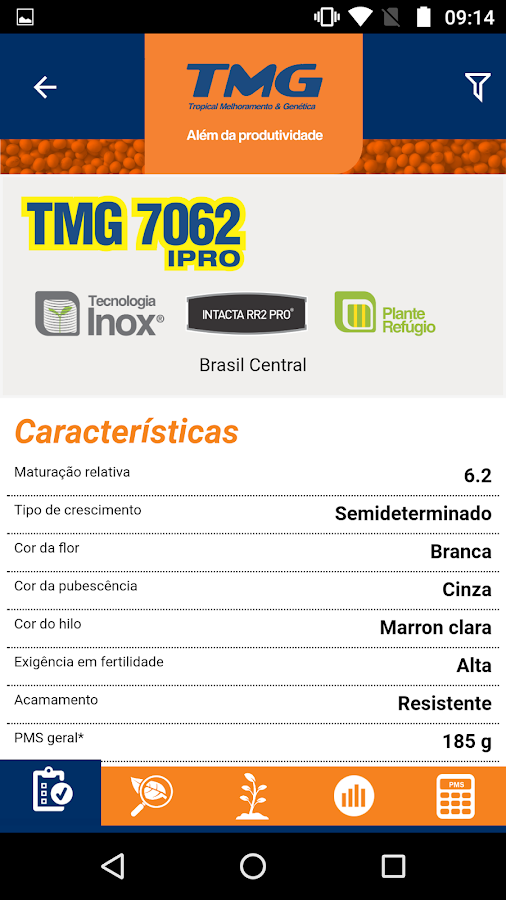 TMG Cultivares- screenshot