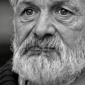 *** by Katka Kozáková - Black & White Portraits & People ( thinking, sad, old man,  )