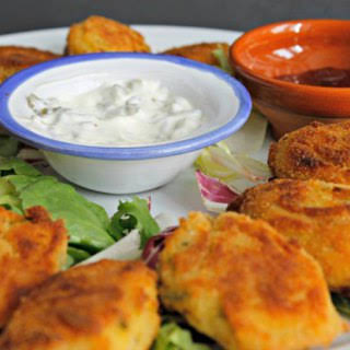 Easy Cod and Shrimp Croquettes.