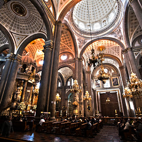 Cathedral at Puebla by Cristobal Garciaferro Rubio - Buildings & Architecture Places of Worship ( church, mexico, puebla, cathedral, domes )