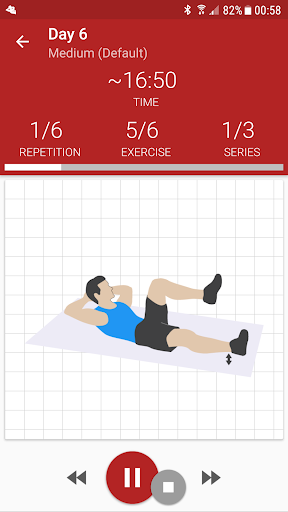 Abs workout A6W - flat belly at home screenshot 1