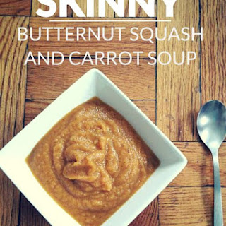 Skinny Butternut Squash and Carrot Soup