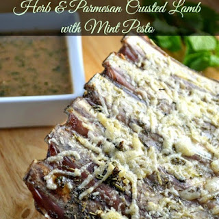 Herb & Parmesan Crusted Lamb with Mint Pesto
