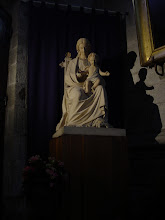 Photo: Mother and Child in a quiet corner of the church.