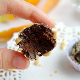 Chocolate Orange Hazelnut Truffles.