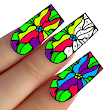 Nails Color by Number : Adult Coloring Book Pages