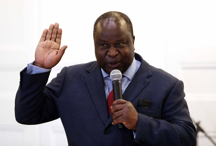Tito Mboweni was sworn in as the as the new finance minister on October 9 2018 in Cape Town.