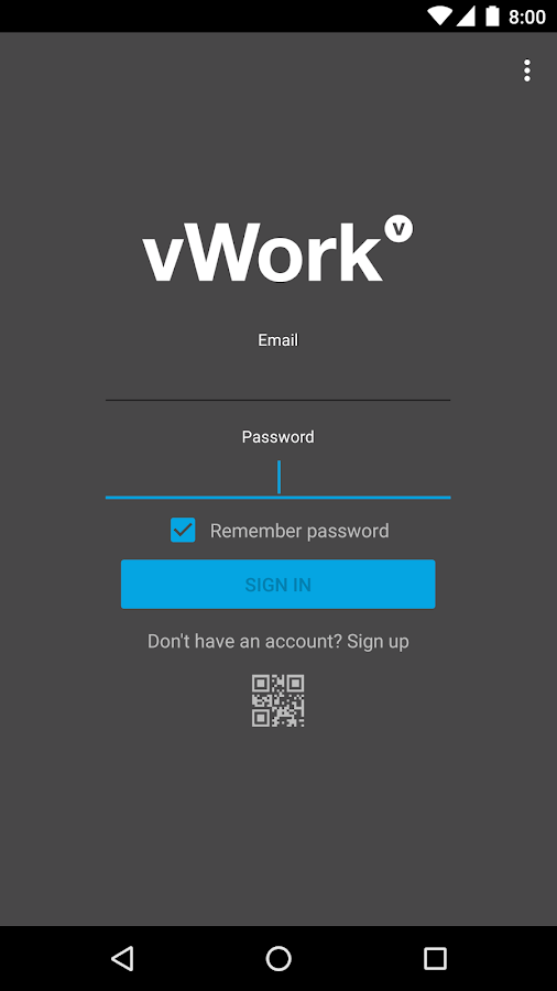 vWork- screenshot