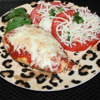 Healthy Grilled Chicken Parmesan.
