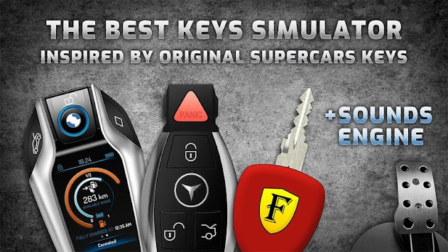 Keys and engine sounds of supercars