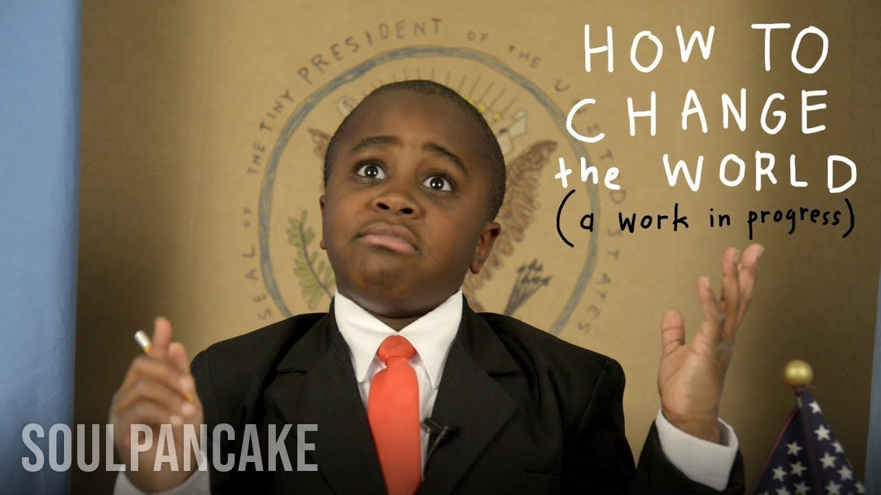 Kid President teaches us how to change the world... kind of. ( source: Sourced from the YouTube channel SoulPancake )