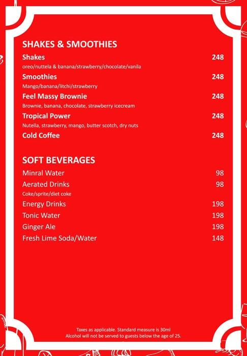 Feel Alive menu 2
