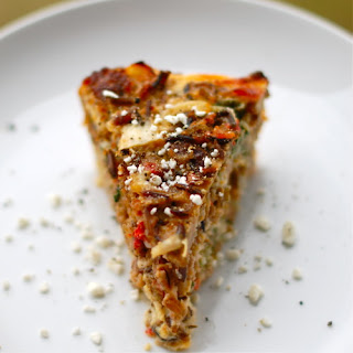 Sausage and Red Pepper Quiche.