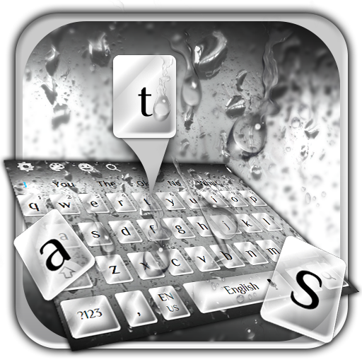 Classic Rain Drops Keyboard Theme