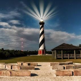 360 by Jeremy Yoho - Buildings & Architecture Public & Historical ( night photography, lighthouse, night, light, nightscape,  )